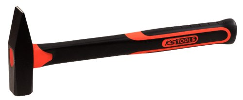 KS Tools 142.1321 Schlosserhammer mit Fiberglasstiel, 200g KS-Tools Werkzeuge-Maschine 4042146272879