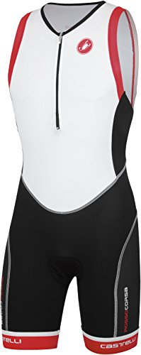 Castelli 2015 Men's Free Tri Distance Triathlon Suit - T13026 (white/black/red - - Itu Tri Suit