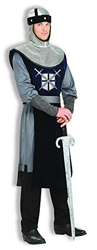 Forum Knight Of The Round Table Costume, Silver/Black, Standard -
