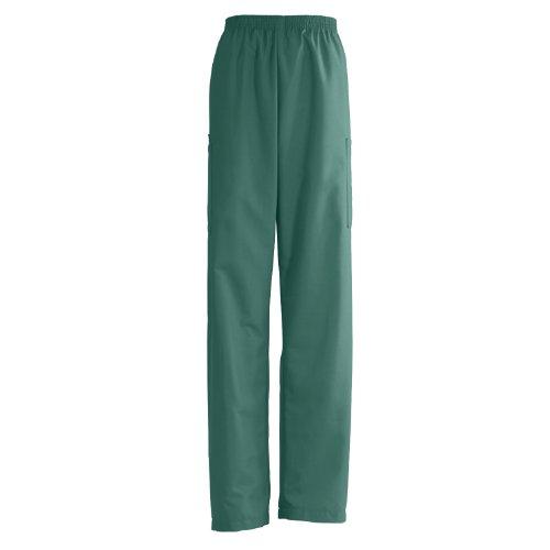 Angelstat Cargo Pocket - Medline AngelStat Elastic Waist Cargo Scrub Pant, Long, X-Large, Hunter Green