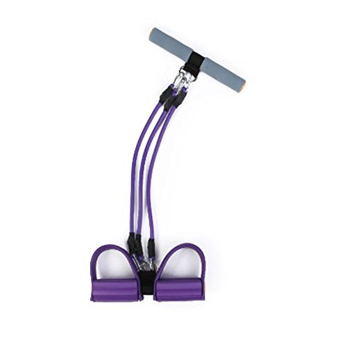 Price comparison product image Faironly Fitness Equipment Adjustable Sit-up Spring Exerciser Elastic Body Building Expander Purple