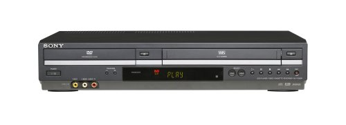 Sony SLV-D380P DVD/VCR Tunerless Progressive Scan DVD/VHS Combo Player (2009 Model), Black (Vcrs Sony)