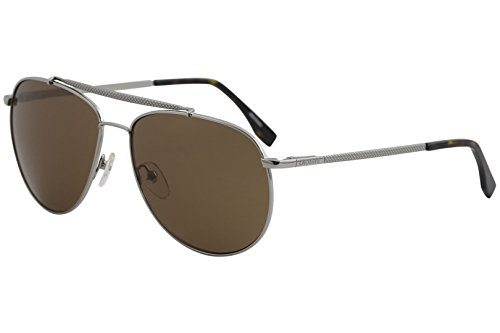 Lacoste Men's L177S Aviator Sunglasses, Gunmetal, 59 mm