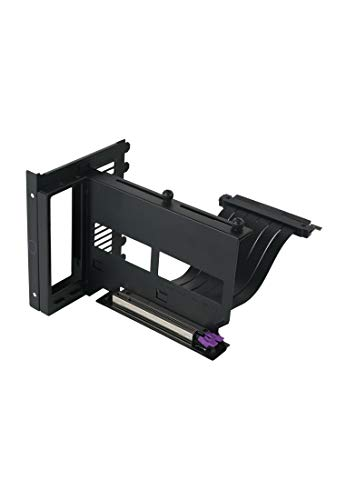 Cooler Master MasterAccessory Vertical Graphics Card Holder Kit Version 2 with Premium Riser Cable PCI-E 3.0 x16-165mm, Compatible with All Standard ATX Chassis (MCA-U000R-KFVK01)
