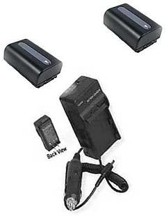 Charger for Sony HDR-PJ230EB Sony HDR-PJ510 Sony PJ650E Sony HDR-PJ510E Sony HDR-PJ650 2 Batteries