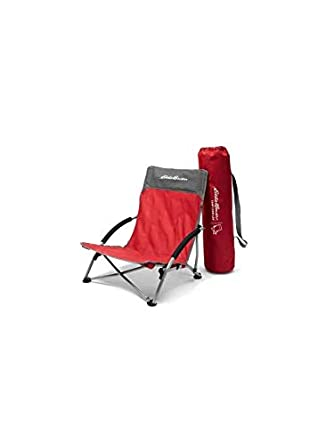 4921c1749a1 Amazon.com: Eddie Bauer Unisex-Adult Camp Chair - Low, Barn Red ...