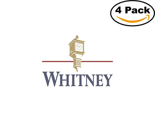 Whitney National Bank 4 Stickers 4X4 Inches Car Bumper Window Sticker Decal