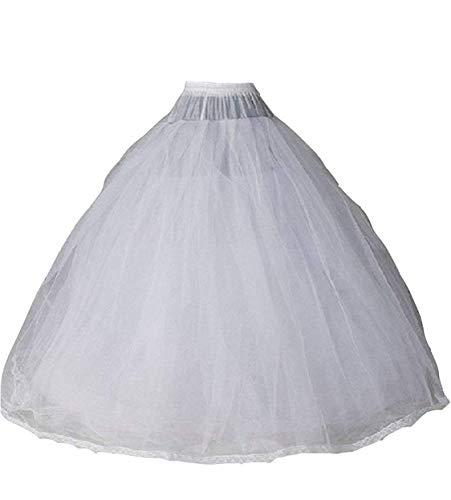 (Sisuly Gauze Bridal Crinoline Petticoat for Ball Gown Wedding Dress White)