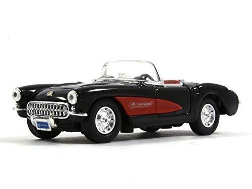 - Yat Ming Chevrolet Corvette C1 Black 1957 Year 1/43 Scale Diecast Model Toy Car