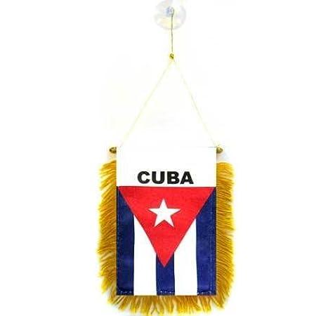 AZ FLAG BANDERIN de Cuba 15x10cm con Ventosa - BANDERINA Cubana 10 x 15 cm para Coche: Amazon.es: Hogar