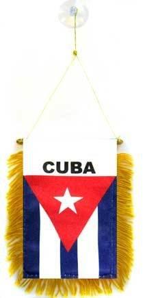 AZ FLAG Wimpel Kuba 15x10cm Auto Pennant spezielle Auto KUBANISCHE Mini Flagge 10 x 15 cm