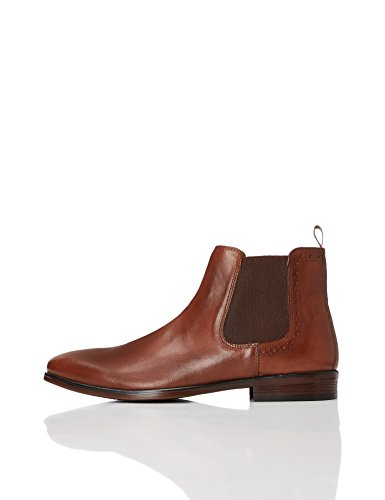 Chestnut Brown Boots - Amazon Brand - find. Men's Marin Chelsea Boots, Brown (Chestnut), US 11