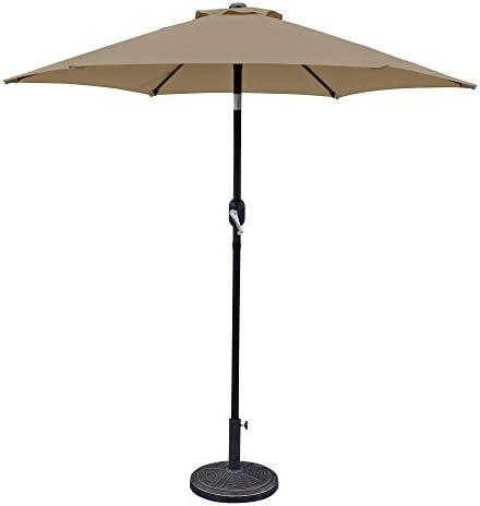 Island Umbrella NU5447ST Bistro Hexagonal Market Umbrella