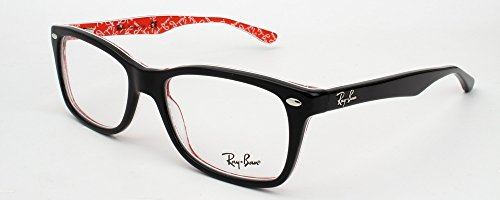 Ray-Ban Women's RX5228 Eyeglasses Top Black On Texture Red - Ray Ban 5184