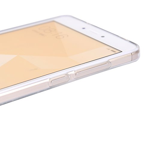Funda Redmi Note 4X, CaseLover Carcasa para Xiaomi Redmi Note 4X Silicona Transparente Suave TPU Protectora Caso Ultra Delgado Flexible Gel Goma Espalda Parachoques Trasera Cubierta Anti Choque Tapa A Flor rosa