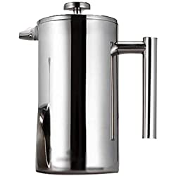 304 Double-Layer Stainless Steel Coffee pot Multi-Function Insulation Cold-Proof Anti-Scalding Handle Household tea Maker