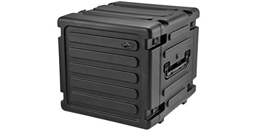 Shock Mount Rack 20 inch Deep 10U Rolling Roto Shock Rack with Wheels by SKB
