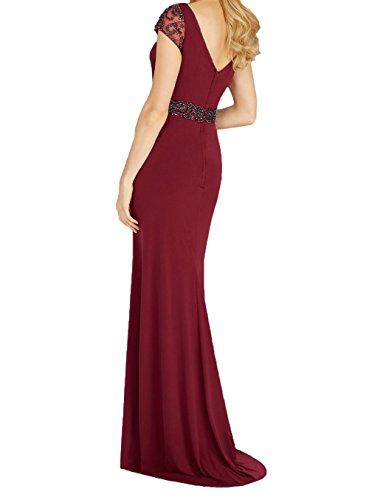 Ballkleider Navy Etuikleider Festlichkleider La Braut Perlen Chiffon Abendkleider Trumpet Lang Brautmutterkleider mit mia Blau nt7p7xX