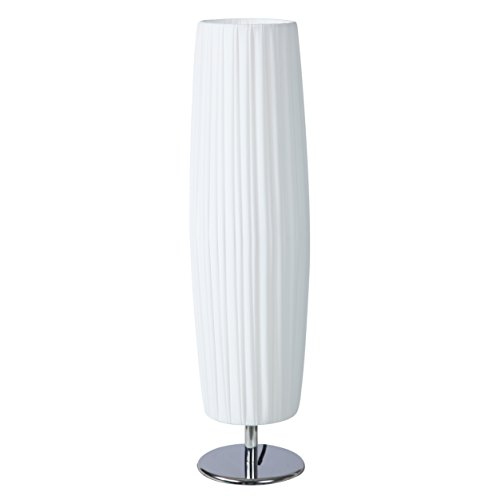 SkyeyArc Bedside Table Lamp with Fabric Shades, Nightstand Lamp for Bedroom, Ambient Light for Living Room, Cylinder Minimalist Desk Lamp, White For Sale