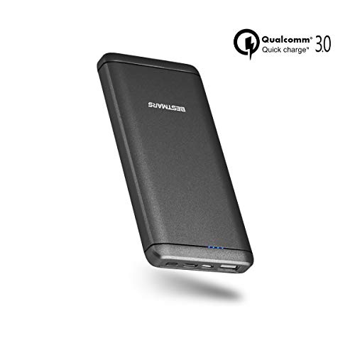 10000mAh Power Delivery PD 3.0 & Quick Charge QC 3.0 Portable Charger Power Bank Fast Charging Battery with USB-C Compatible for iPhone Samsung Galaxy Cellphone & Other Smartphone Devices Black (Best Power Bank For Samsung Note 3)