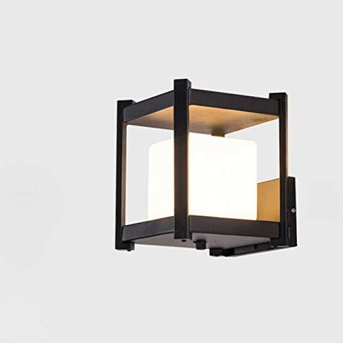 Applique da parete per esterni quadrate in metallo con struttura quadrata in metallo bianco e grigio