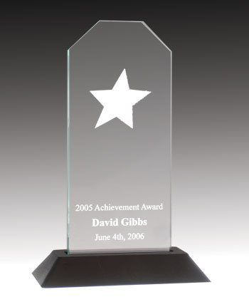 QuickTrophy Jade Acrylic Rising Star Award - Acrylic Trophy