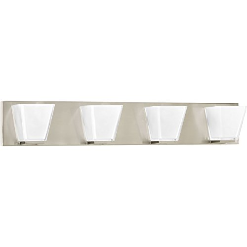Progress Lighting P2126-09 4 LT Bath Fixtures with Super Clear Sandblasted Inside Glass