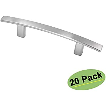 Homdiy 3 Inch Cabinet Pulls Brushed Nickel 20 Pack Arch