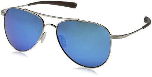Costa del Mar Cook Polarized Iridium Aviator Sunglasses, Brushed Palladium, 59.7 mm by Costa Del Mar (Image #1)'