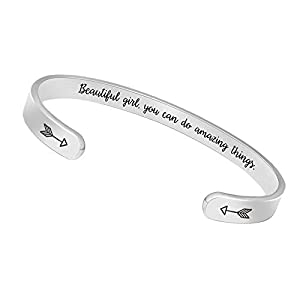 Best Epic Trends 31IVb9heYhL._SS300_ BTYSUN Bracelets for Women Inspirational Gifts for Women Girls Motivational Birthday Cuff Bangle Friendship Personalized…