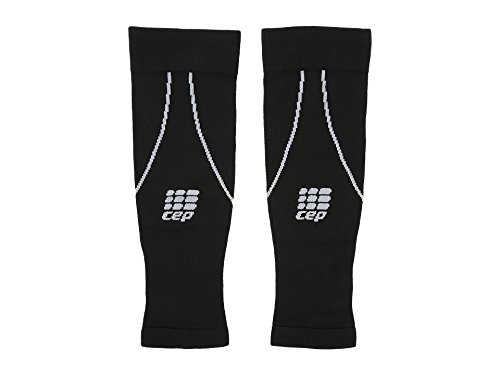 CEP Men's Progressive+ Compression Calf Sleeves 2.0 for Running, Cross Training, Fitness, Calf Injuries, Shin Splits, Recovery, and Athletics, 20-30mmHg Compression, Black/Grey, Size 4