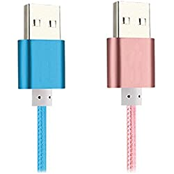 Kindle USB Cable [2 pack] Kindle PowerLine iBarbe 5ft Speed USB 2.0 Power wire cord Cables for Kindle Oasis kindle3 kindle4 kindle5 kindle touch All Kindle and Kindle Fire