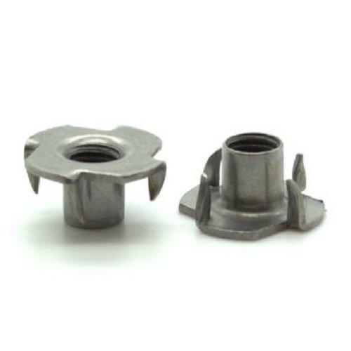 Paquete de 25 tornillos de tuerca en T de metal M6, insertos roscados para madera, tuercas de bloqueo, fijaciones de muebles de acero Vital Parts