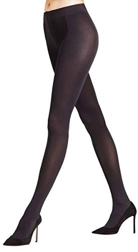 Falke Womens Seidenglatt 80 Den Opaque Shining Tights - Black - Small/Medium