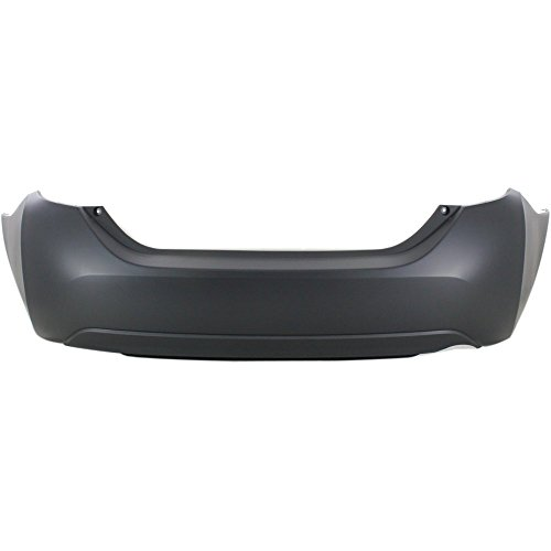 (CAPA Certified Rear Bumper Cover Primed top; Textured bottom Compatible with 2014-2016 Toyota Corolla)