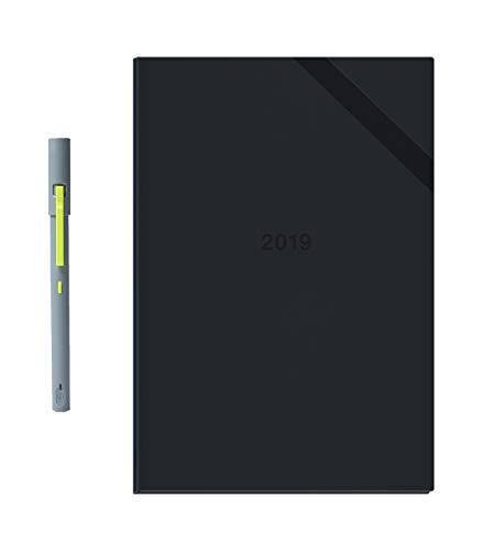 Neo Smartpen M1 (Grey) with 2019 N Hardcover Planner (256 Customizable Pages with Weekly and Monthly Plan) Bundle for iOS, Android, Smartphones, Tablets, and Windows