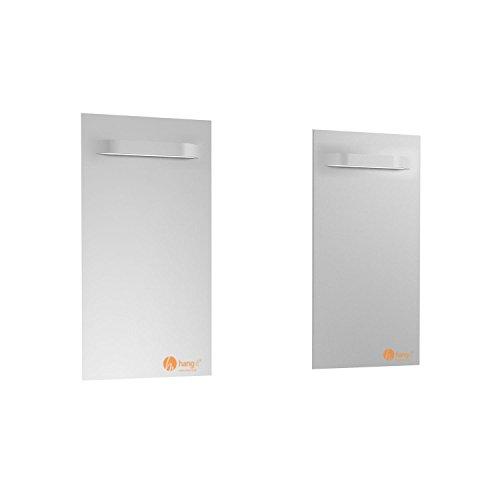 Spiegel Aufhänger Set Groß mit 2 Spiegelaufhänger - Spiegelhalter von Hang-it