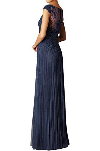 Gruen Royal Chiffon Kleider Bodenlang Spitze Abendkleider La Blau Dunkel Kurzarm Formal Braut Marie Brautmutterkleider AqxwTYBOEa