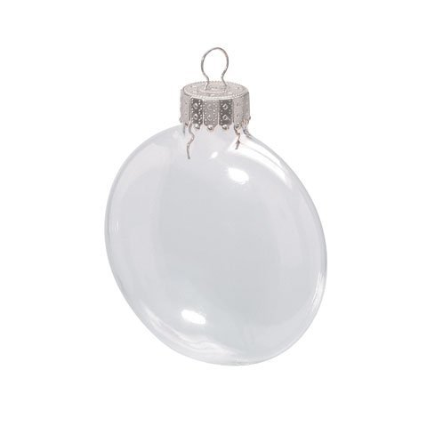 (Darice 2.6 Inches Clear Disc Glass Ornaments - Pack of)