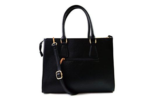 """gallantry-sac de mano para mujer tamaño mediano con lanière-pour Tablet 10"""" blanco y negro"""