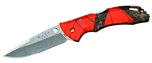 (Buck Knives 0285CMS9 Bantam Folding Pocket Knife with Pocket Clip, Mossy Oak Blaze Orange)