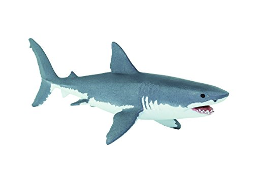 Safari Ltd Wild Safari Sea Life  Great White Shark  Realistic Hand Painted Toy Figurine Model  Quality Construction from Safe and BPA Free Materials  For Ages 3 and Up