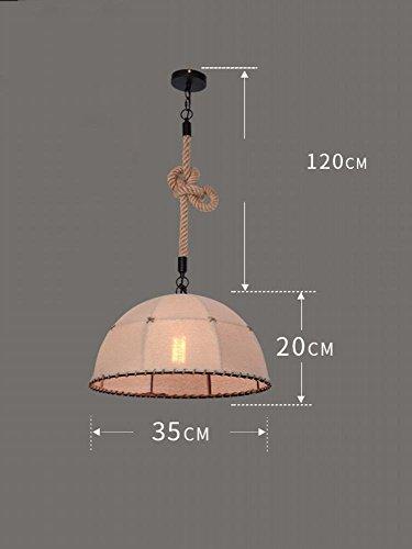 DEN Nostalgic loft industrial wind bar coffee restaurant wrought iron twine chandelier,F,One size by DEN