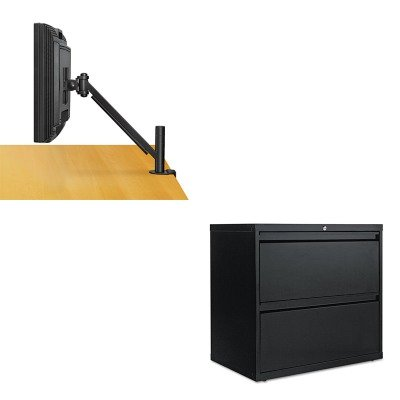 kitalelf3029blfel8038201 – Valueキット – Fellowes desk-mountアームforフラットパネルモニタ( fel8038201 )とBest two-drawer Lateralファイルキャビネット( alelf3029bl )   B00MOS9ZSY