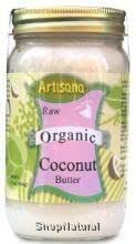 Coconut Butter (Coconut Meat Puree), Raw, Organic, 8 oz.