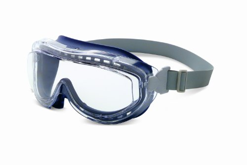 Uvex S3400X Flex Seal Safety Goggles, Navy Body, Clear Uvextreme Anti-Fog Lens, Neoprene Headband