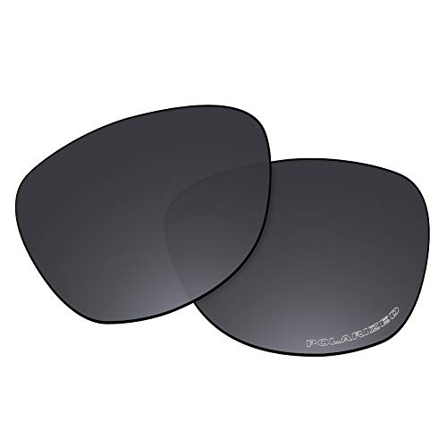 OOWLIT Replacement Lenses Compatible with Oakley Frogskins Sunglass Black Polycarbonate Combine8 ()