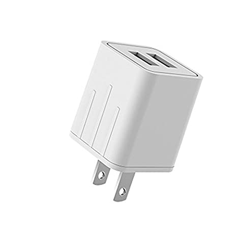 ASUMI Wall Charger 21W 4.2Amp 2-Port Rapid USB Travel Power Adapter Compatible iPhone iPad Samsung and Others - (Iphone 5c Boost Mobile White)