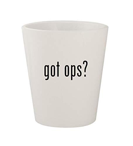 got ops? - Ceramic White 1.5oz Shot Glass
