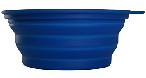 Collapsible Bowl, Camping, Hiking, Travel, Pets, Lightweight and Compact, BPA Free, 100% Food-Grade Silicone, 2 Bowls, 2 Carabiners, Small